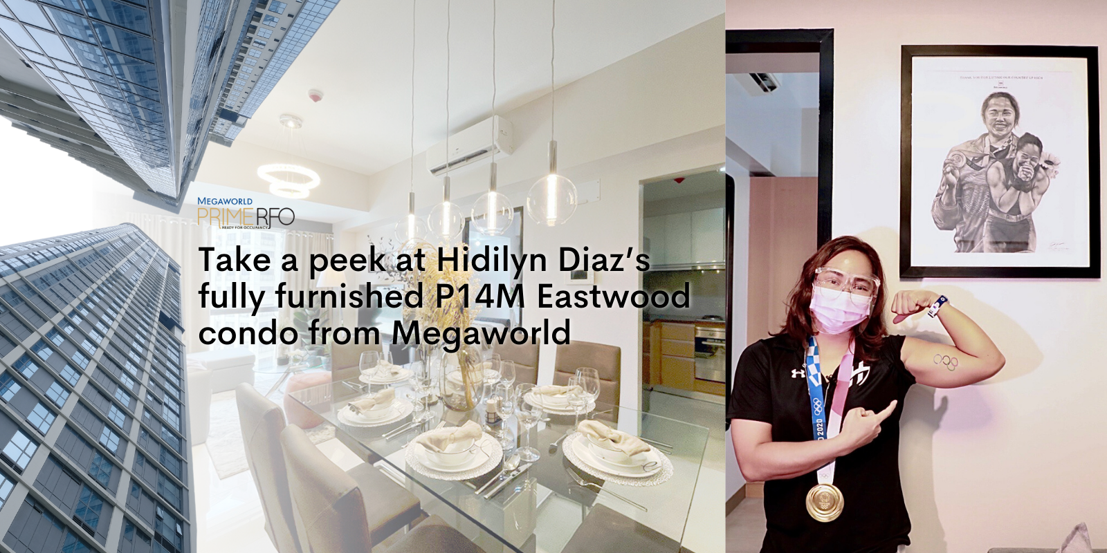 Take a peek at Hidilyn Diaz's fully furnished P14M Eastwood condo from Megaworld